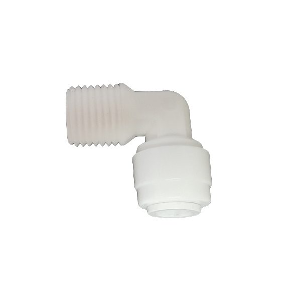 """DCC-002A Elbow Male Adapter 1/4"""" Tube 1/4"""" Thread"""