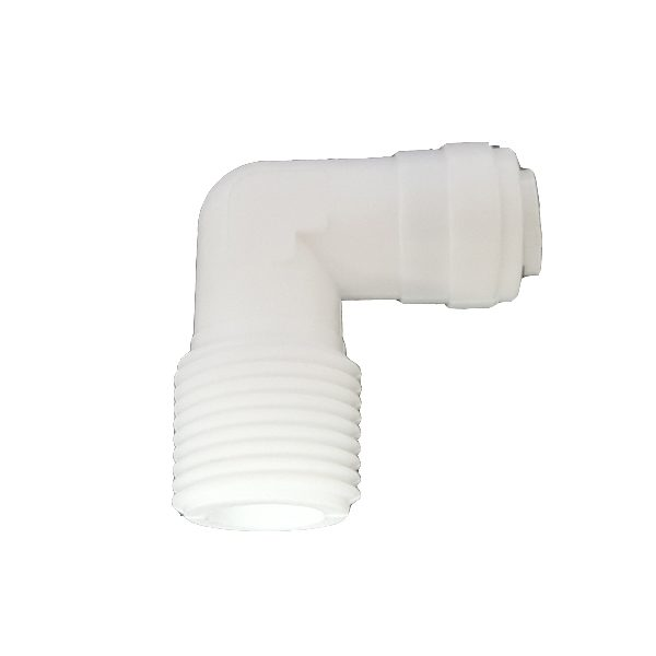 """DCC-002B Elbow Male Adapter 1/4"""" Tube 1/2"""" Thread"""