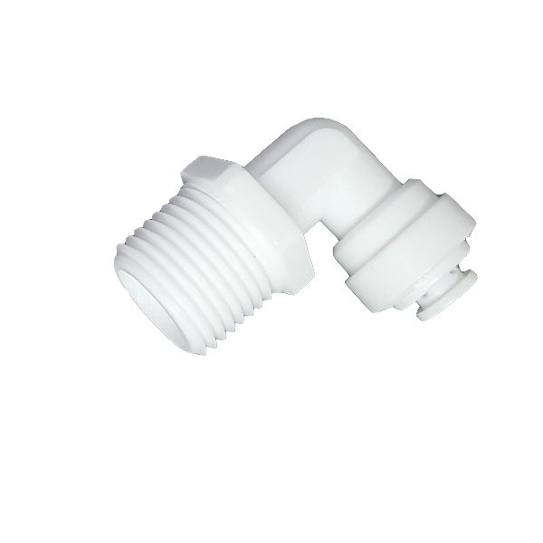 """DCC-002C Elbow Male Adapter 3/8"""" Tube 1/4"""" Thread"""