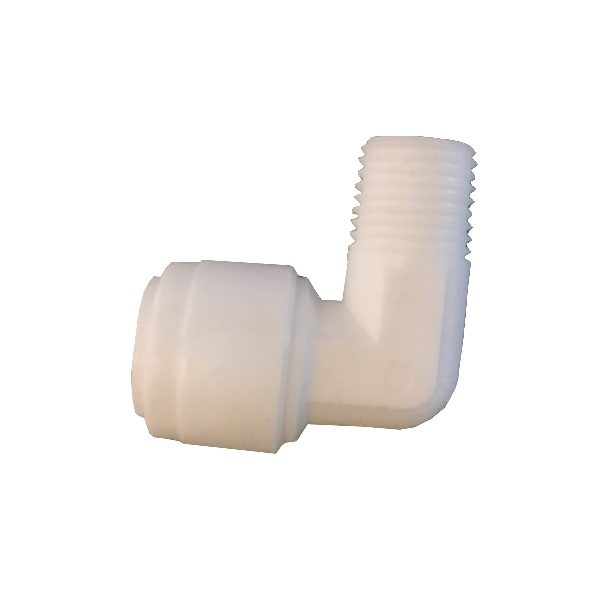 """DCC-005A Elbow Male Adapter 1/4"""" Tube 3/8"""" Thread"""