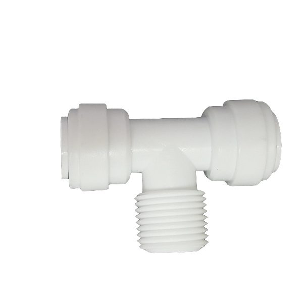 "DCC-007D Tee Male Adaptor 1/4"" Tube 3/8"" Thread 3/8"" Tube"