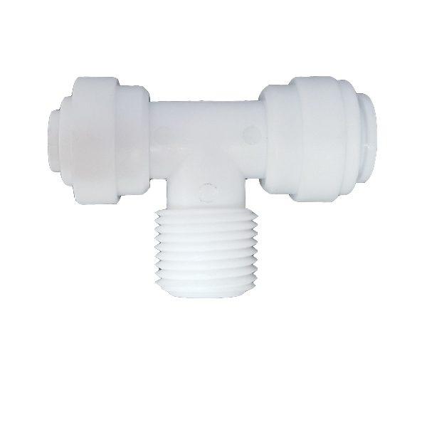 """DCC-007E Tee Male Adaptor 3/8"""" Tube 3/8"""" Thread 3/8"""" Tube"""