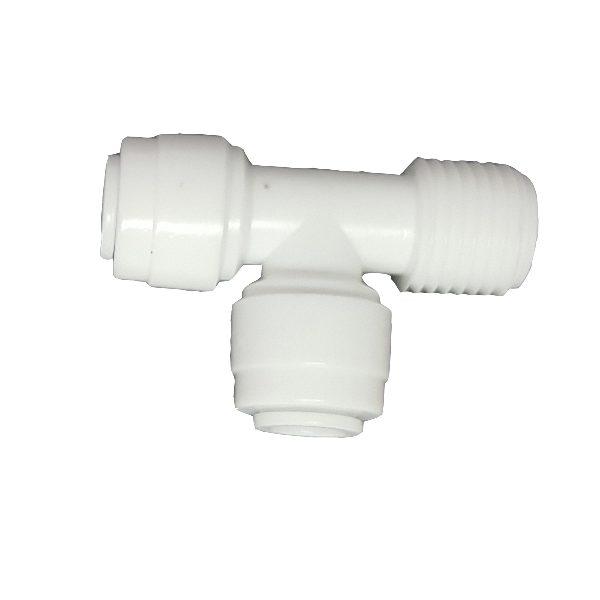 "DCC-008A Tee Male Adaptor 1/4"" Tube 1/4"" Tube 1/4"" Thread"