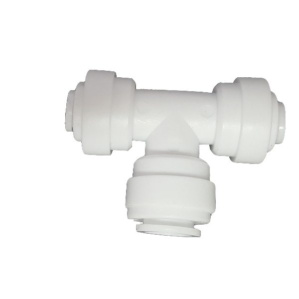 "DCC-009B Tee Union Adaptor 1/4"" Tube 1/4"" Tube 3/8"" Tube"