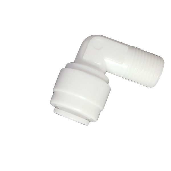 """DCC-013A Elbow Male Adapter 1/4"""" Tube 1/8"""" Thread"""