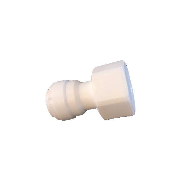 "DCC-019F Straight Female Adapter 3/8"" Tube 1/2"" Thread"