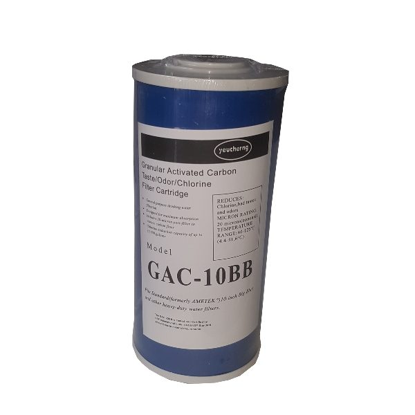 "GAC-10B Filter Cartridge 10"" Granular Activated Carbon for Big Blue Housing"