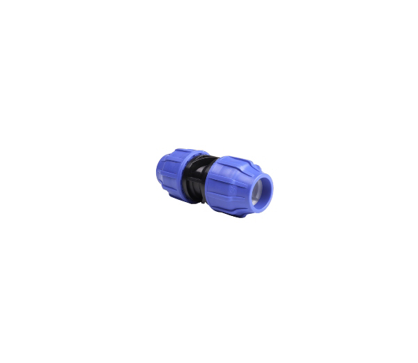 The compression coupling 20mm body and nut are made from polypropylene co-polymer, the clinching ring in POM resin, the O-ring in NBR and the reinforcing ring in 430 stainless steel. All fittings are SABS and ISO9001 snd have pressure ratings of 16 bar at 20°C